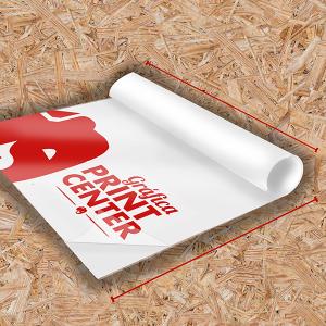 Adesivo Vinil Transparente Adesivo Transparente  4x0 Sem Revestimento Em Rolo Impressão Digital