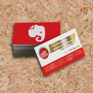 Cartão de Visitas - Laminado Fosco e Hotstamping Couche 300gr Padrão - 8,8 x 4,8cm 4X0 - Colorido Frente Laminado Fosco Frente/Verso Corte Reto Hotstamping