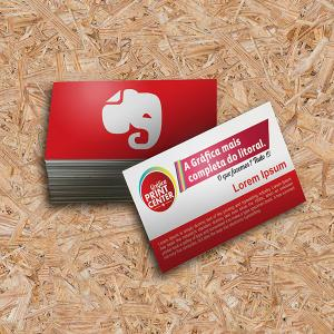 Cartão de Visitas - Laminado Fosco Couche 300gr Padrão - 8,8 x 4,8cm 4X0 - Colorido Frente Laminado Fosco Corte Reto Sem Extra