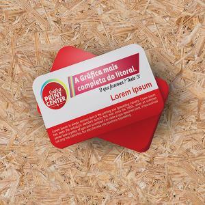 Cartão de Visitas - PVC PVC 0,30 Padrão - 8,8 x 4,8cm 4X0 - Colorido Frente Sem Revestimento Corte Reto Sem Extra