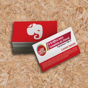 Cartão de Visitas - Sem Verniz Couche 300gr Padrão - 8,8 x 4,8cm 4X0 - Colorido Frente Sem Revestimento Corte Reto Sem Extra