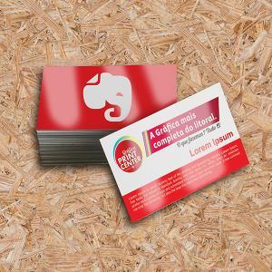 Cartão de Visitas - Verniz UV Total Frente Couche 250gr Padrão - 8,8 x 4,8cm 4X0 - Colorido Frente Verniz UV Total Frente Corte Reto Sem Extra
