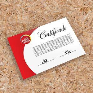 Certificados Couchê 300gr A4 - 21cm x 29,7cm 4X0 - Colorido Frente Sem Revestimento Corte Reto Sem Extra
