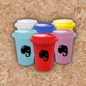 Copo de Café - 550ml Plástico  Gravação em Transfer Colorido 4x0   com tampa