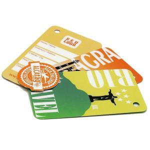 Tag Convencional em PVC PVC 0,30 Padrão - 8,8 x 4,8cm 4X0 - Colorido Frente Sem Revestimento Corte Reto Sem Extra