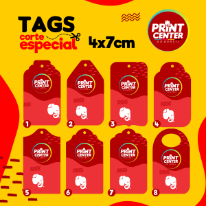 Tag Especial - em Kraft - 4cm x 7cm Kraft 250gr 4cm x 7cm 4X0 - Colorido Frente Sem Revestimento Corte Especial Sem Extra